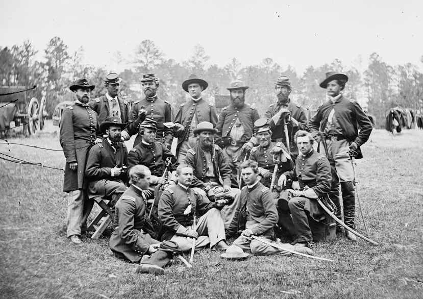 Camp picture of Confederate soldiers