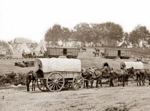 Civil War Wagon Train