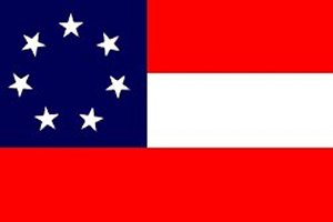 CSA First National Flag - The Stars and Bars