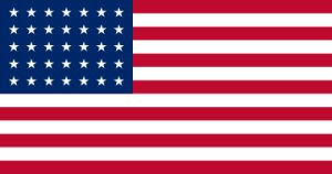 US Flag 35 Stars July 1861 to July 1865