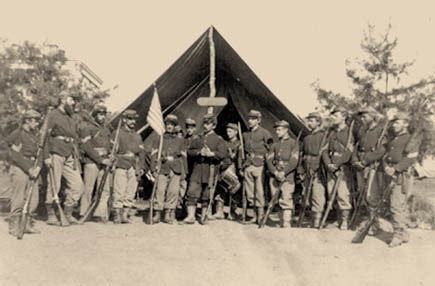 Camp picture of Union soldiers