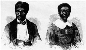 Dred and Harriet Scott from Frank Leslie's Illustrated Newspaper