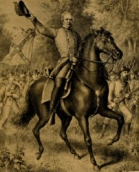 General Sterling Price on horse back