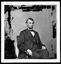 US President Abraham Lincoln in 1864