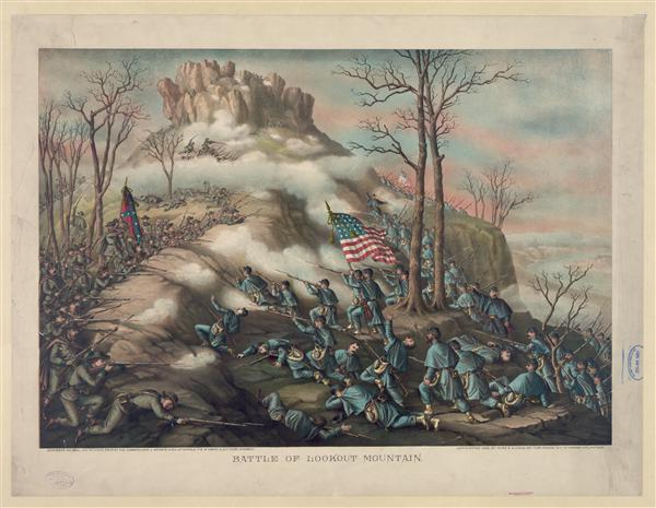 Battle of Lookout Mountain--November 24, 1863 - Union 4th & 14th Corps, Army of the Cumberland & Geary's Div. of 12th Corps, and Confederate 11th & 15th Corps, Army of Tennessee engaged