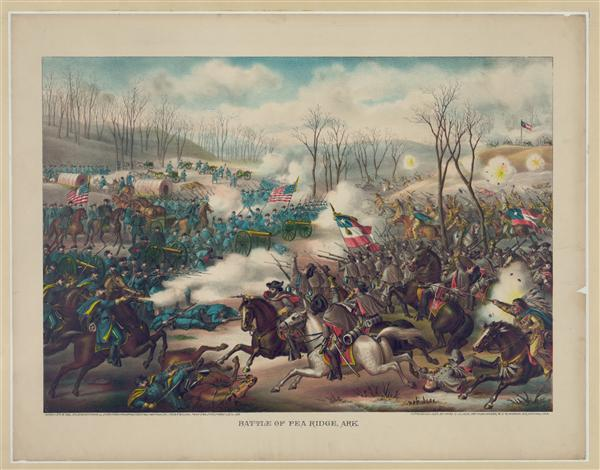 Battle of Pea Ridge - March 7th and 8th in 1862, created by Kurz & Allison