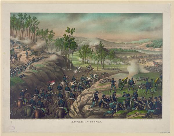 Battle of Resaca--May 13 to 16, 1864, created by Kurz & Allison