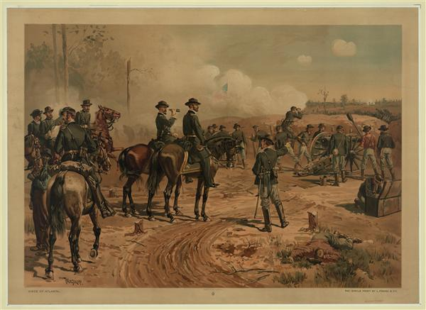 Union General William T. Sherman at the Siege of Atlanta, created by Thulstrup