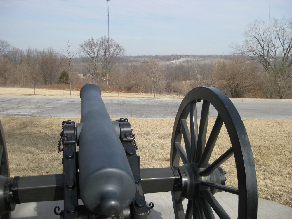 View looking east from Pratt's Artillery tour stop