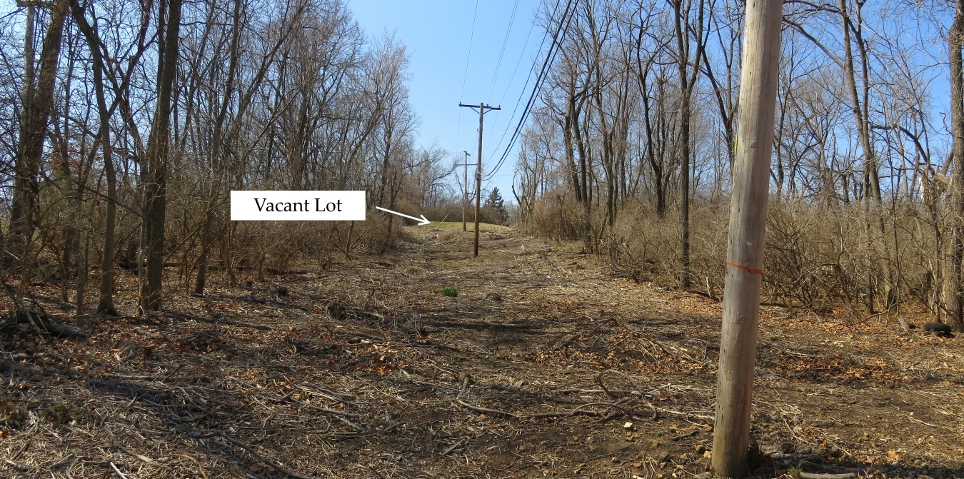 Annotated view looking west toward Elmwood Avenue tour stop