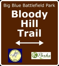 Bloody Hill Trail sign