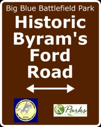 Historic Byram's Ford Road sign