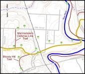 Map of Big Blue Battlefield, West