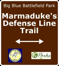 Marmaduke's Defense Line Trail Sign