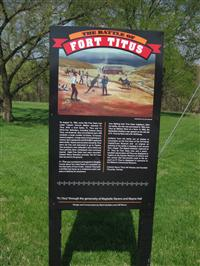 The Battle of Fort Titus Interpretive Sign