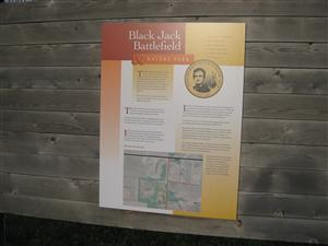 Black Jack Battlefield Interpretive Sign - Center