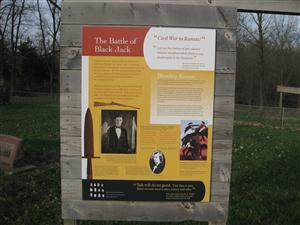 Black Jack Battlefield Interpretive Sign - Left