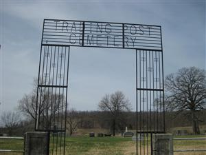 Entrance to the Trading Post Cemetery