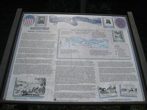 The Battle of Boonville Interpretive Sign on south side of East Morgan Street in Boonville, Missouri