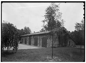 Building Number 1, Gun Carriage House, in 1936 at the United States Arsenal, Second & Arsenal Streets in Saint Louis, Missouri - Library of Congress