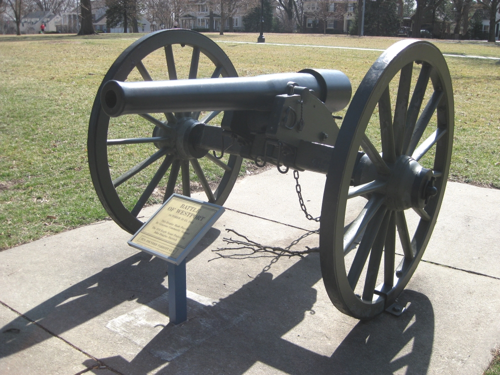 Front view of 10-pounder Parrott Gun