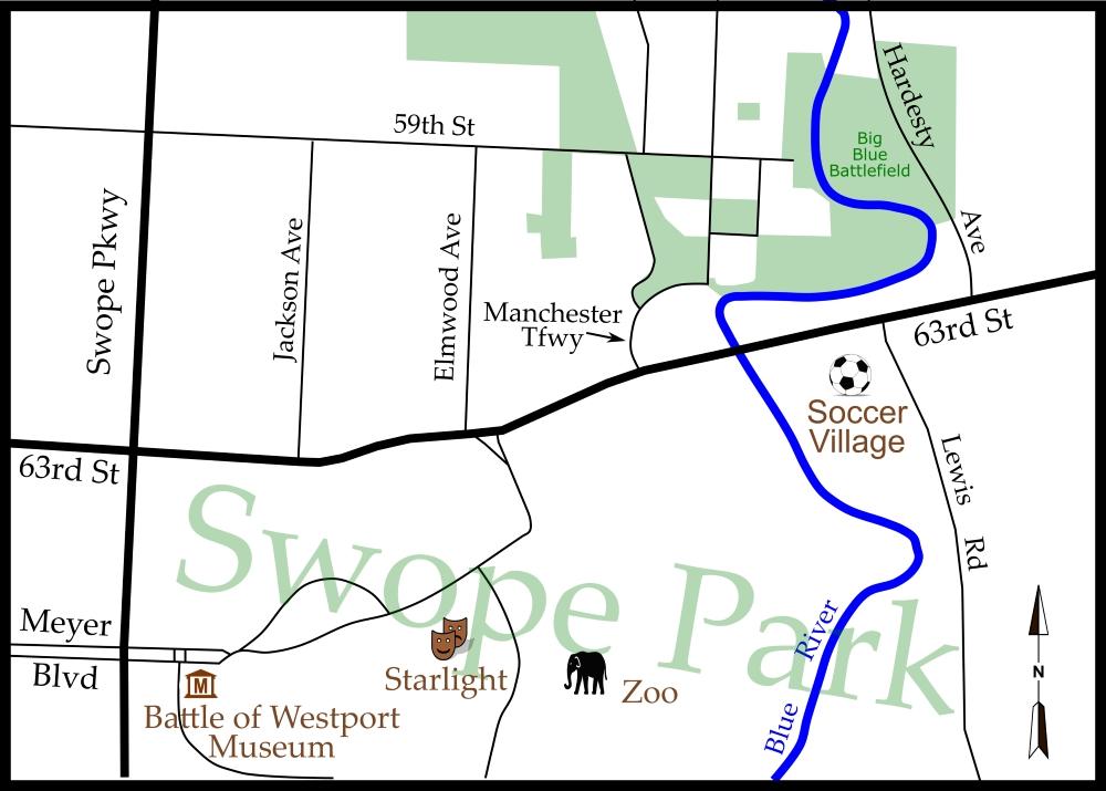 Battle of Westport Museum map