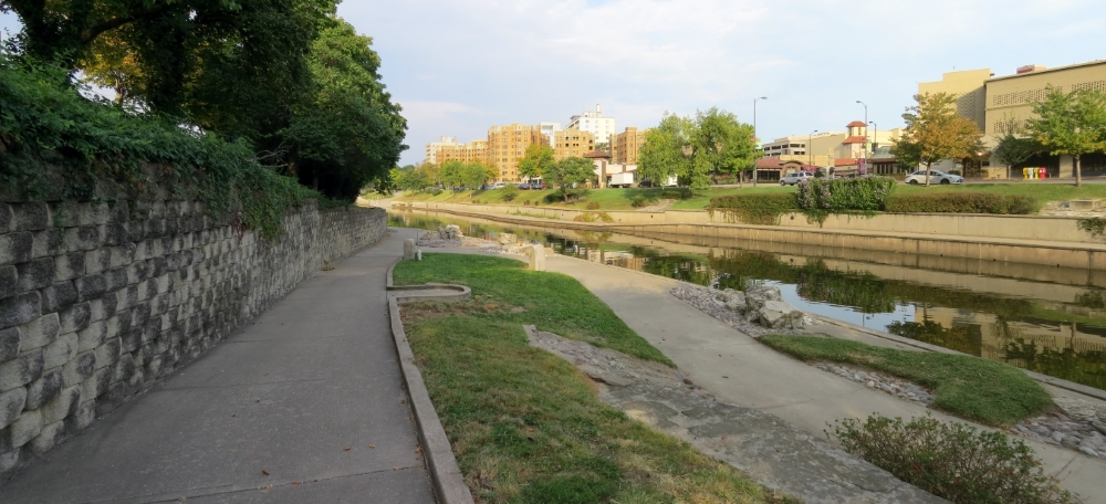 View of tour stop along south side of Brush Creek
