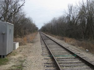Railroad Tracks Follow Path of Road to Sarcoxie