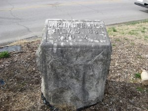 Tour Stop 10: Granite Marker No. 4