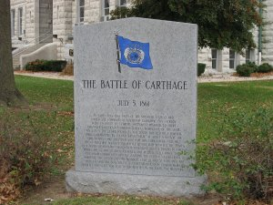 The Battle of Carthage Historical Marker