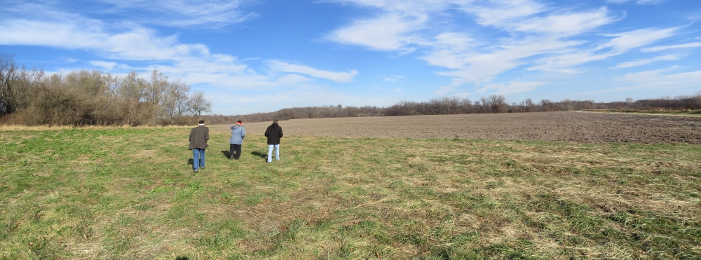 Looking northeast toward location of Quantrill rendezvous