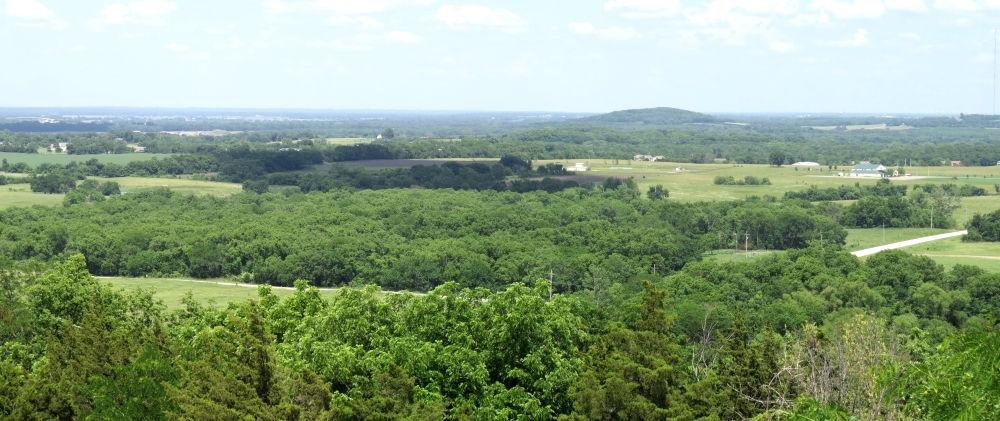 View from Wells Overlook Park looking east toward Blue Mound