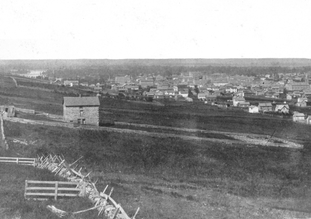 1867 photo taken from the Mt. Oread entrenchments