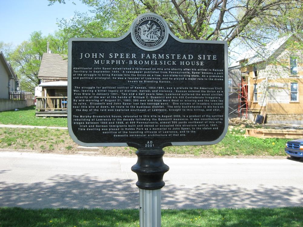 John Speer Farmstead historical marker