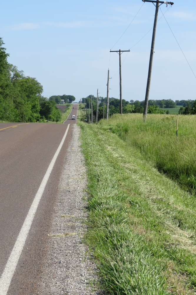 Looking north from Keystone Corners toward Eudora, Kansas