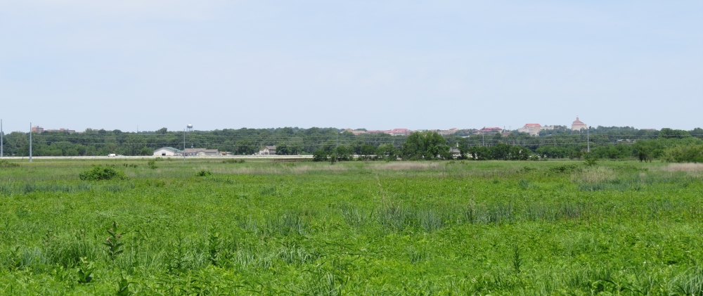 Lawrence, Kansas, off in the distance as viewed from Blanton's Bridge