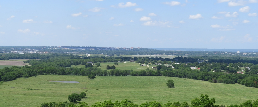 View from Wells Overlook Park looking north toward Lawrence, Kansas