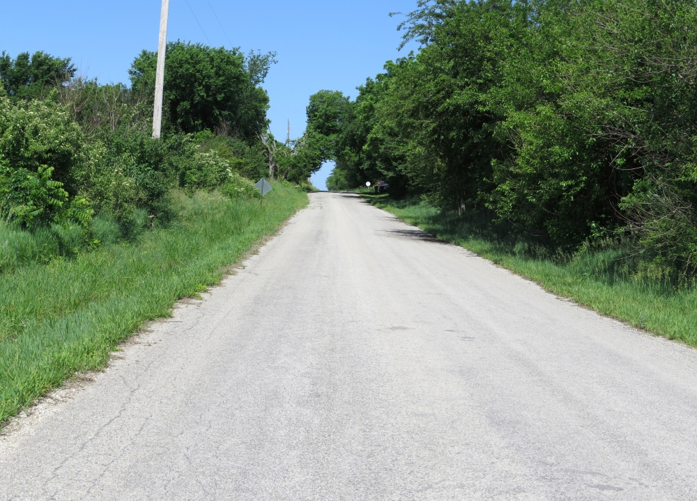 Looking northwest toward the location of Franklin, Kansas, from the intersection of E 1750 and N 1360 roads