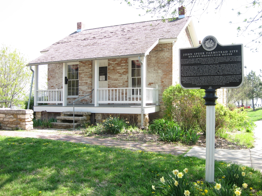 Murphy-Bromelsick House and John Speer Farmstead historical marker