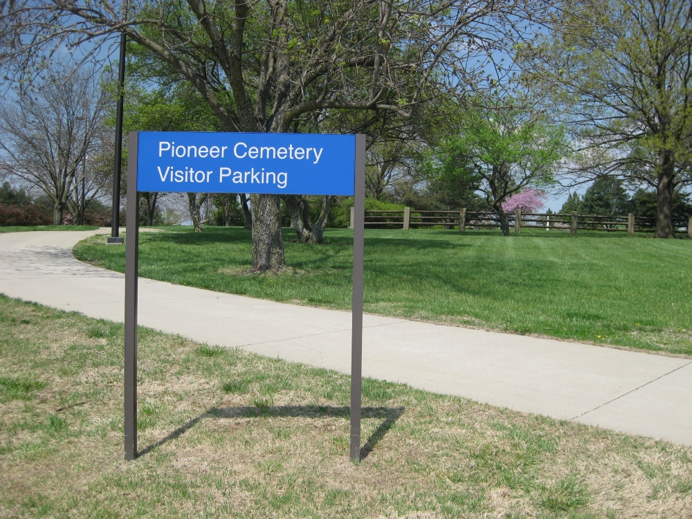 Pioneer Cemetery Parking Sign