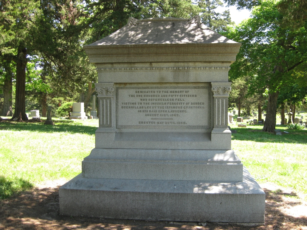 Quantrill's Raid Monument in Oak Hill Cemetery