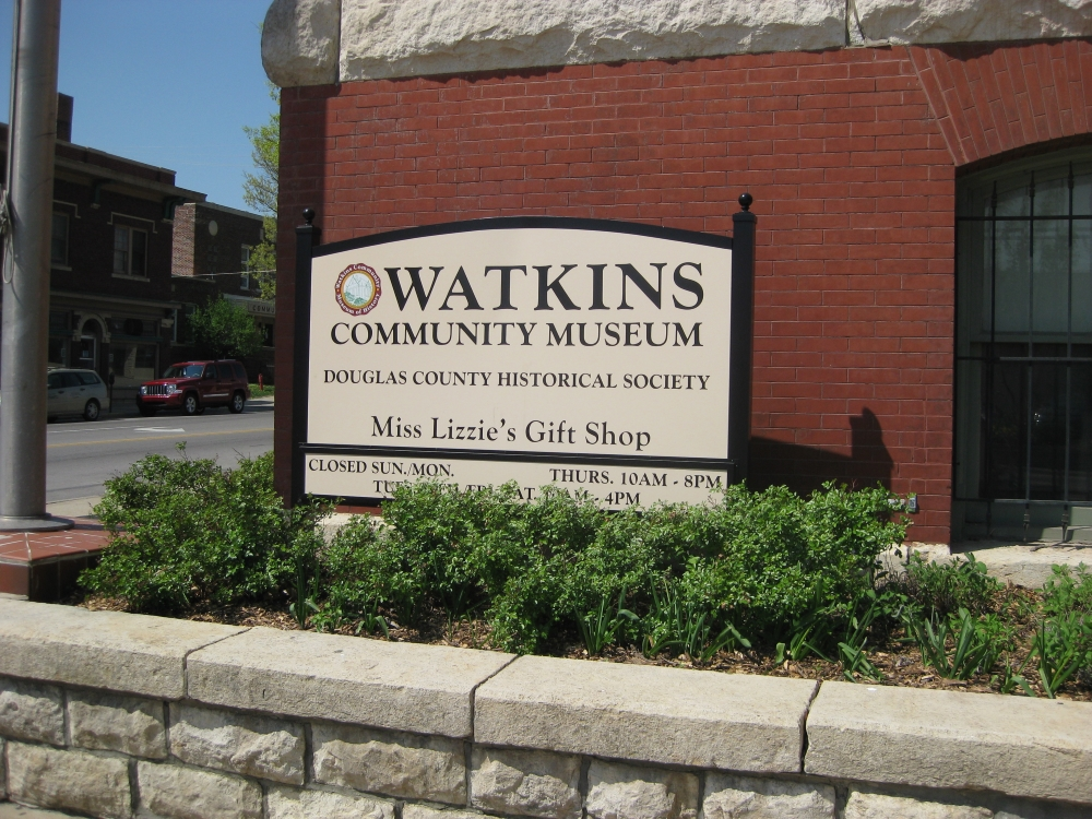 Watkins Museum of History sign
