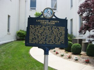 Historical Marker - Lafayette County Courthouse