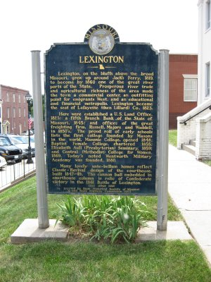 Historical Marker - Lexington, Missouri Side 1
