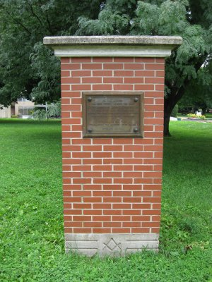 Masonic College Building Pillar, Lexington Missouri