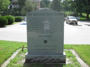 Missouri State Guard Battle of Lexington Monument West Side