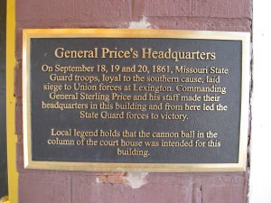 Historical Marker - General Price's Headquarters