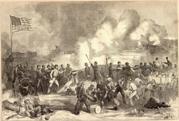 The Battle of Lexington as depicted in Harpers Weekly