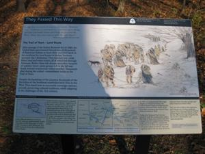 Trail of Tears Interpretive Sign