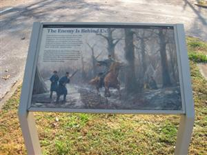 """The Enemy is Behind Us!"" Interpretive Sign"